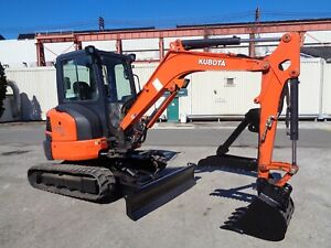 2016 Kubota U35 4 Mini Excavator Loader Backhoe Diesel Thumb Low Hours