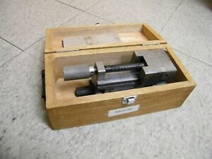 Mitutoyo Sine Vise Model 986 121 Angle Inspection Machinist W Wooden Box