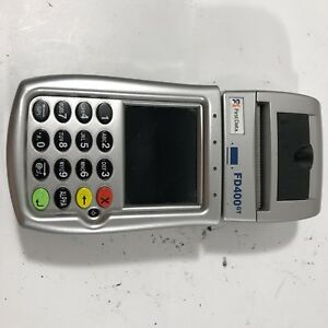 First Data Fd400gt Wireless Credit Card Terminal With Battery No Power Supply