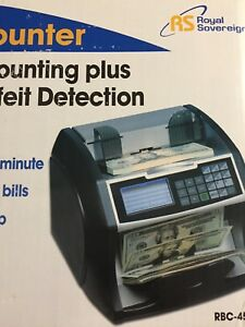 New Royal Sovereign Money Counting Machine Bill Counter Rbc 4500