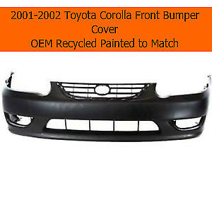 2001 2002 Toyota Corolla Front Bumper Cover Oem Recycled Painted To Match