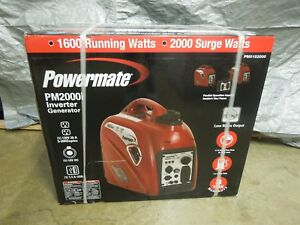 Powermate Pm2000i 2000 watt Portable Gas Inverter Generator brand New