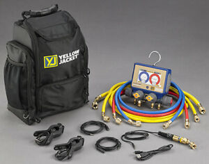 Yellow Jacket 40870 P51 870 Titan Digital Manifold With Hoses And Backpack