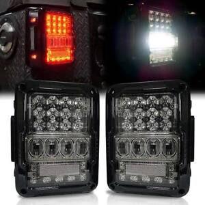 Black Clear 2007 2017 Jeep Wrangler Ultra Lumipro Led Tail Lights Left Right
