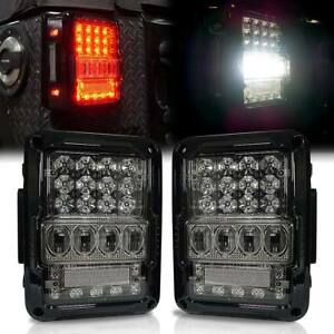 Black Clear 2007 2017 Jeep Wrangler Ultra Lumileds Led Tail Lights Left Right