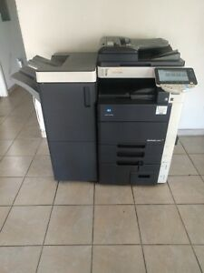 Konica Minolta Bizhub C650 Copier Printer Scanner With Finisher 65 Ppm Color