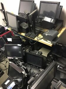 Lot Of 30 Pos Point Of Sale Systems Complete Hp First Data Posx Micros Vivonet