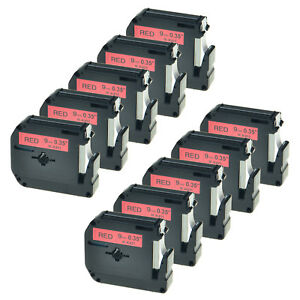 10pk Black On Red 9mm Tape For Brother P touch Pt 70bmh Mk421 M k421 Label Maker