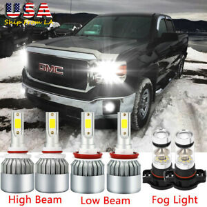9005 Lumileds Led Headlight 5202 Fog Lamp For Gmc Sierra 1500 2500 3500 Hd