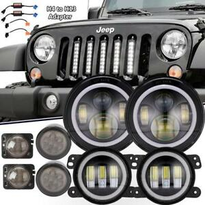 7inch Led Headlight fog Light turn Signal fender Lamp For Jeep Wrangler Jk 07 18
