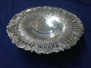Sheffield Reproduction Silver Plated Compote 10 In Diameter
