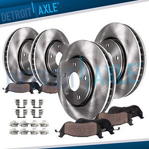 Awd 2007 2008 2009 Edge Lincoln Mkx Front Rear Brake Rotors Ceramic Pads