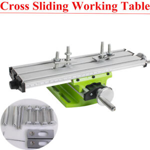 Multifunction Milling Machine Cross Sliding Table Vise Diy Lathe Bench Drill Use