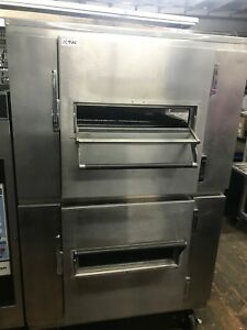 Lincoln Impinger Gas Conveyor Pizza Ovens Dbl Stack
