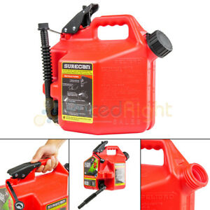 Surecan Sur22g1 Gas Can With Rotating Spout 2 2 Gallon Fuel Can Thumb Trigger