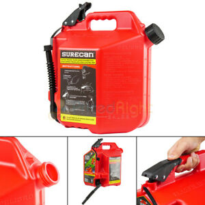 Surecan 5 Gallon 19 Liter Self Venting Gas Can W Rotating Spout Nozzle Red