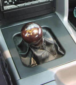 Ford Mustang Shift Knob 1979 2004 Walnut With Gold Inlay