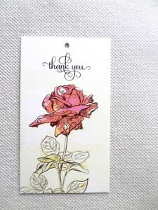 500 Price Tags Accessories Tags Cute Rose Clothing Tags Hang Tags no Loops