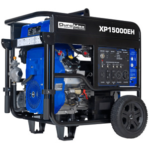 Duromax Xp15000eh 15000w V twin Electric Start Hybrid Portable Generator