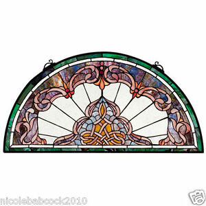 32 5 Half Moon Victorian Style Stained Glass Window