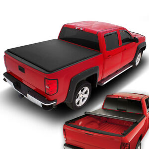 Fit 2005 2015 Toyota Tacoma Fleetside 6ft Short Bed Soft Roll Up Tonneau Cover