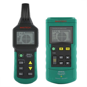 Ms6818 12v 400v Wire Cable Locator Metal Pipe Detector Tester Line Tracker Hft