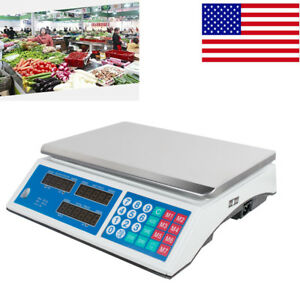 Digital Scale Price Computing Counting Weight Food Meat Produce Deli Market Use