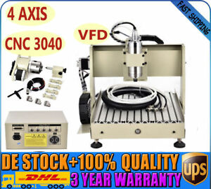 4 Axis Cnc 3040 Router Engraver Drilling 800w Pcb Wood 3d Cut Engraving Machine