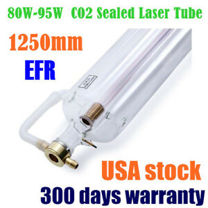 Usa Stock Efr F2 80w 95w Co2 Laser Tube 1250mm For Laser Engraver Machine