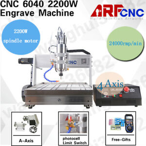 4 Axis 6040 Usb 2200w Cnc Router Engraver Engraving Machine Handle Controller