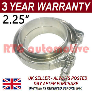V Band Clamp Flanges Complete Stainless Steel Exhaust Turbo Hose 2 25 57mm