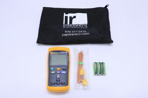 New Fluke 52 Ii Thermocouple Thermometer W Case