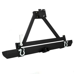 Rear Bumper 2 Hitch Receiver D Ring Tire Carrier Fit 87 06 Jeep Wrangler Yj Tj