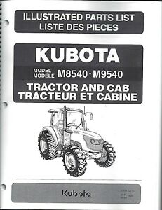 Kubota M8540 Tractor Illustrated Parts Manual Cab Only 97898 23270