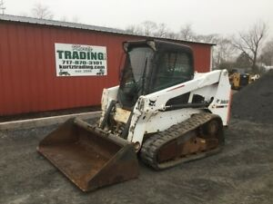 2013 Bobcat T630 Compact Track Skid Steer Loader W Cab Joysticks Only 1700hrs