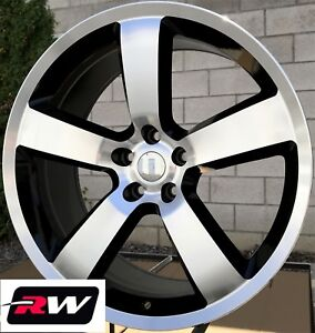 Dodge Challenger Oe Replica Wheels 22 Inch Charger Srt8 22x9 Machined Black Rims