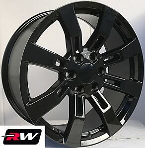 20 Inch Chevy Tahoe Factory Style Denali Wheels Ck375 Gloss Black Rims