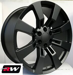 20 Inch Chevy Tahoe Factory Style Denali Wheels Ck375 Satin Black Rims