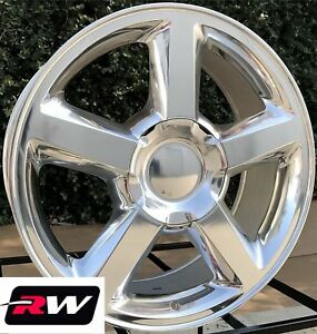 20 X8 5 Inch Chevy Tahoe Ltz 5308 Factory Style Wheels Polished Rims 6x139 7 31
