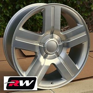 20 X8 5 Inch Rw 5291 Wheels For Chevy Truck Machined Silver Rims 6x139 7 31 Set