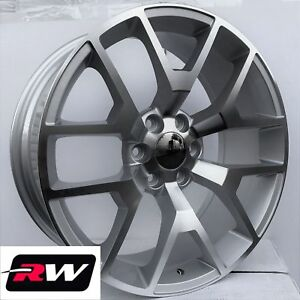24 X10 Inch Rw 5656 Wheels For Chevy Truck Machined Silver Rims 6x139 7 31 Set