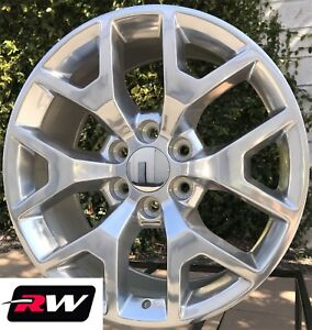 20 X9 Inch Rw 5656 Wheels For Chevy Truck Polished Aluminum Rims 6x139 7 Set