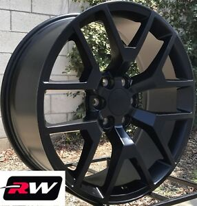 22 Inch Chevy Tahoe Factory Style Honeycomb Wheels Satin Black Rims 6x139 7
