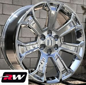 22 X9 Inch Chevy Tahoe Factory Style 5665 Wheels 2017 2018 Chrome Rims