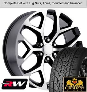 22 Wheels And Tires For Chevy Avalanche Oe Replica Ck156 Gunmetal Machined Rims