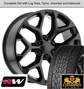 22 Inch Wheels And Tires For Chevy Silverado Oe Replica Ck156 Gloss Black Rims