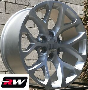 20 X9 Inch Rw 5668 Wheels For Chevy Tahoe Machined Silver Rims 6x139 7 24 Set