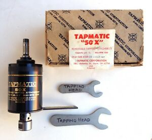 Tapmatic 50x Tapping Attachment No 6 1 2 Wrenches Box Item Ticket Nos