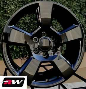 20 Inch Chevy Tahoe Factory Style Wheels 5652 Gloss Black Rims 6x139 7 27