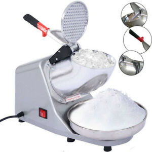 Electric Ice Shaver Machine Snow Cone Maker 143lbs Crusher Shaving Cold Drink